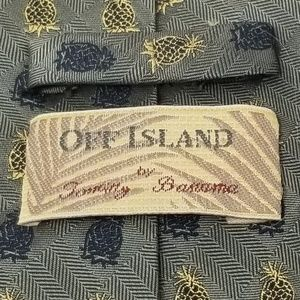 Tommy Bahama Accessories - Tommy Bahama Off Island Mens Silk Pineapple Tie